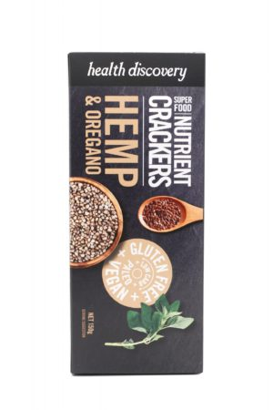 Nutrient Crackers Hemp & Oregano 150g