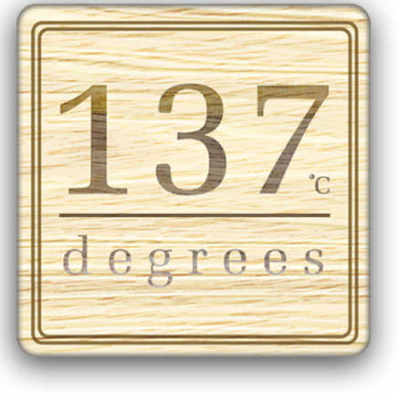 137 degrees