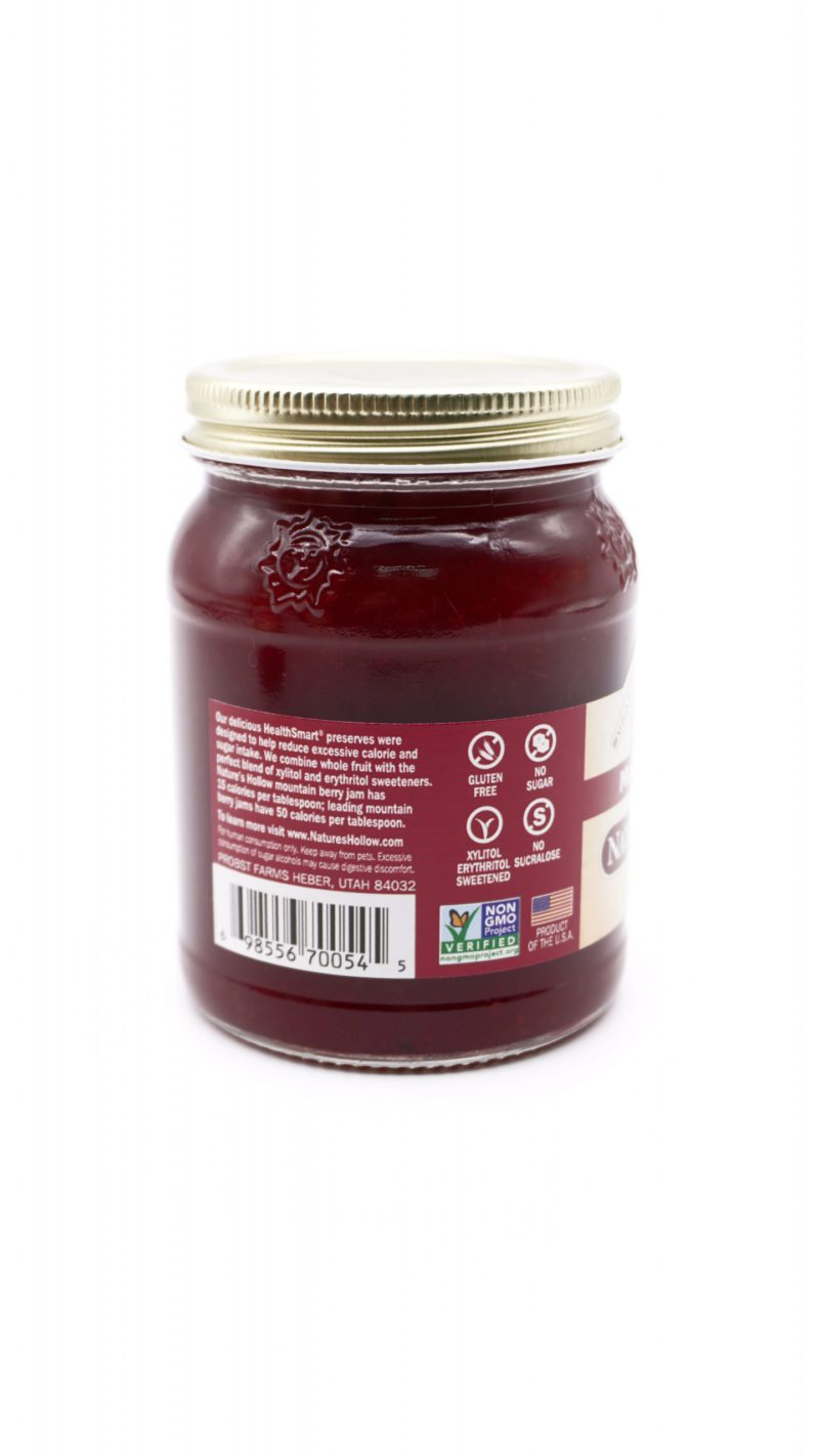 Nature's Hollow Sugar Free Mountain Berry Jam 280g